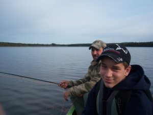 Fishing on the pond. (c) S. Warren