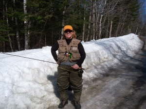Staci fly fishing