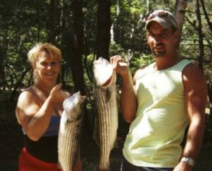 2006 - When striper fishing was good...we'd catch at least one each day. (c) S Warren