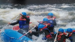 Whitewater rafting the Kennebec. (c) S. Warren