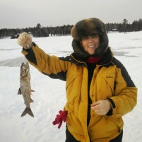 My first fish caught ice fishing