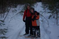 Snowshoeing with the boy