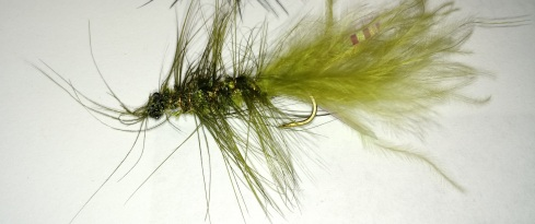 Finished Green Woolly Bugger