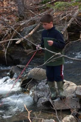 Brook fishing Alder Stream