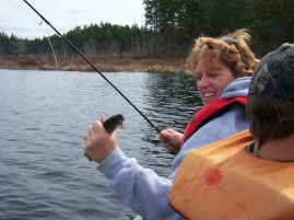 Mom's first fly rod catch