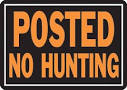 no hunt sign